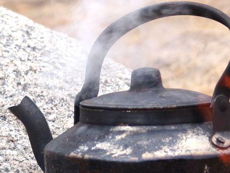 cragsman: My Black kettle Stock Photo