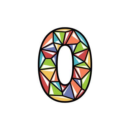 number zero icon shiny logo design Vector illustration. Illustration