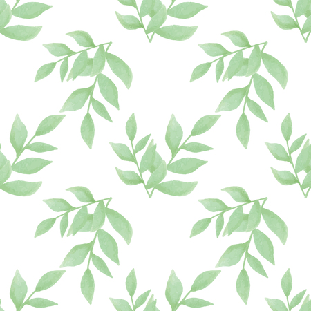 vector seamless pattern flower in watercolor style