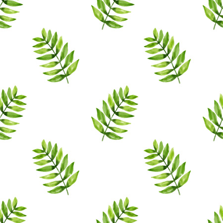 vector seamless pattern leaf in watercolor style