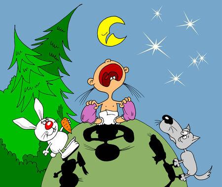 lullaby: Canci�n de cuna para el ni�o peque�o realizado por un lobo y una liebre