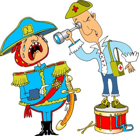 napoleon: Tanden is ziek keizer Napoleon en het is onderzocht door de stomatologist