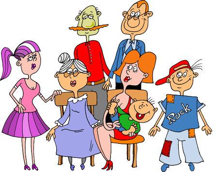family celebration: The family has gathered for family celebration
