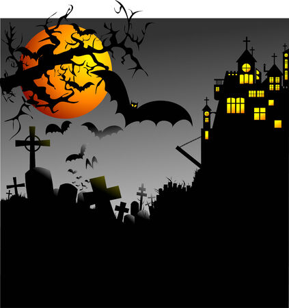 Halloween vector illustration. Edit the colors as you want Vector