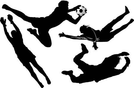goal keeper: goalkeeper - de gevaarlijke moment gate;  Stock Illustratie