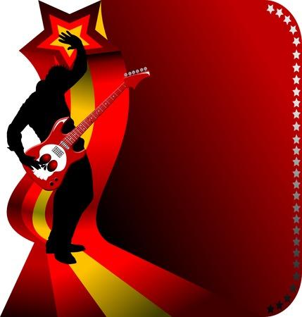 guitarristas: El guitarrista toca la parte solista una guitarra;