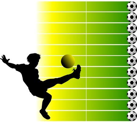 football player attack gate of the opponent; Vektoros illusztráció