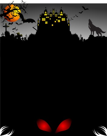 dracula: Halloween vector illustration. Edit the colors as you want