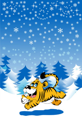 Christmas card. New  year. Vector and illustration Vector