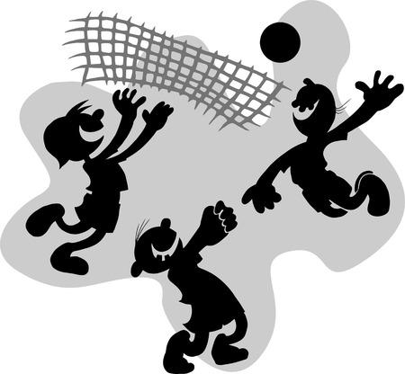 lad: Ilustraci�n vectorial para la competencia de voleibol (jugador de voleibol);  Vectores