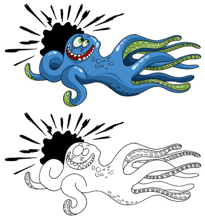 Tribal Sea Monsters. Ready for vinyl cutting  Vector