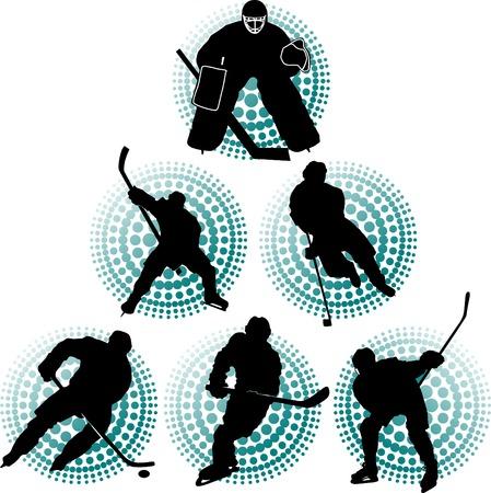 Giocatore di hockey rende un forte colpo sul rivale obiettivo;