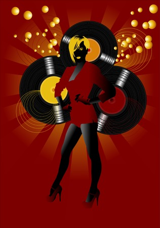 invitation to a party in the style of disco;  Vector