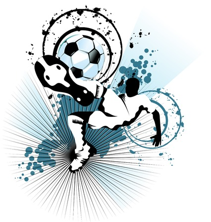 champ: soccer player attack gate of the opponent;