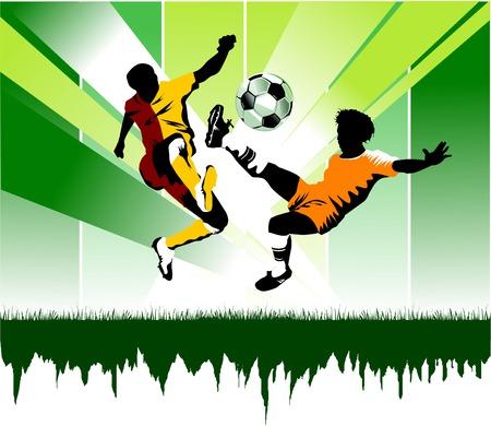portero futbol: puerta de ataque de jugador de f�tbol del oponente;