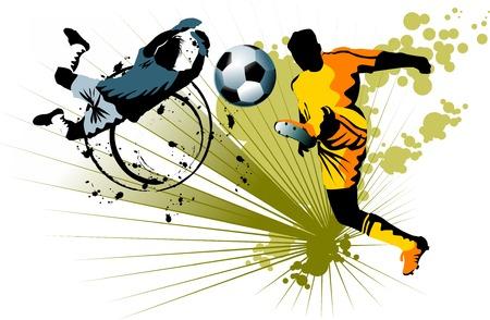 puerta de ataque de jugador de fútbol del oponente;