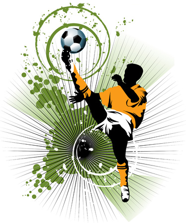 the opponent: football player attack gate of the opponent ( and illustration),