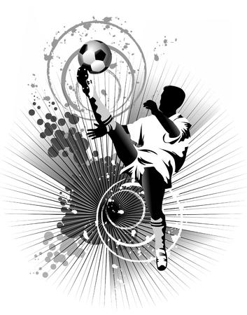 kicking ball: Dise�o de jugador de f�tbol  fondo de f�tbol  deporte dise�o,
