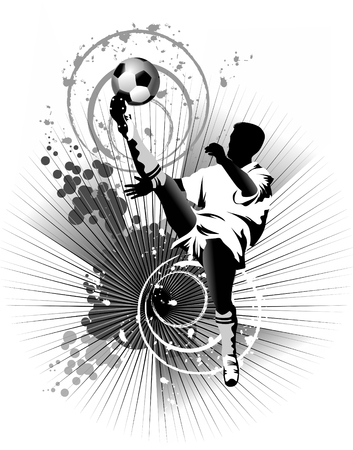 Soccer player design / Football Background / sport design,  Stock Vector - 7077873