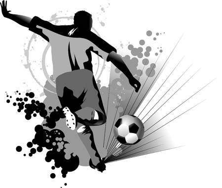 football kick:  Soccer player design  Football Background   sport design,