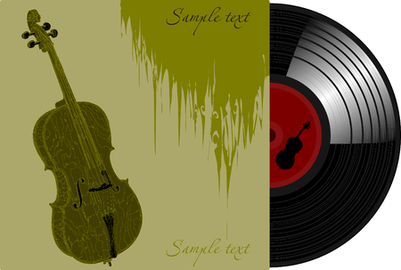 cellist: The vinyl disc featuring the cello on the green cover
