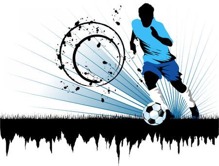 Soccer player design Stock Vector - 7596732