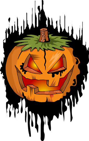 Postcard on Halloween of several thematic patterns (vector);  Vector