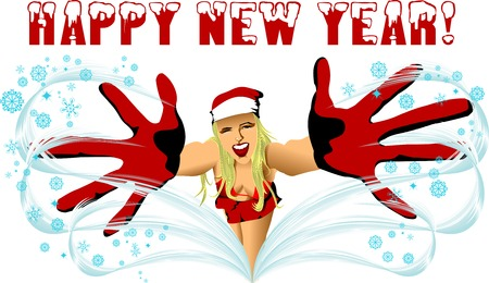 klaus: Illustration for Christmas and New Year. Vector