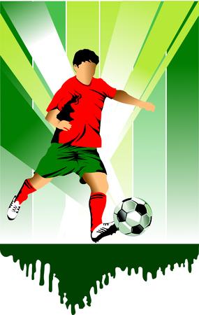 Vector Soccer player design / Football Background / Vector sport design;  Stock Vector - 8534955
