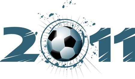 Vector Soccer player design / Football Background / Vector sport design,  Stock Vector - 8665330