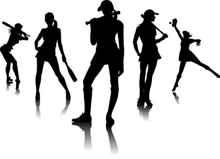 juniors: five female silhouettes