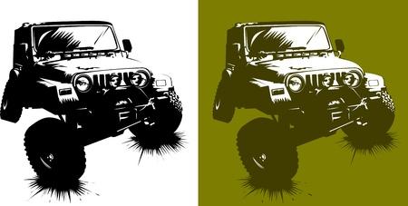 poster of the car monster truck; (vector-illustration);