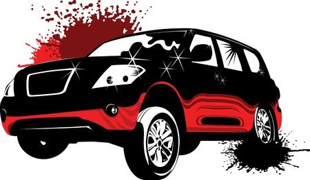 motor mechanic: poster of the car monster truck