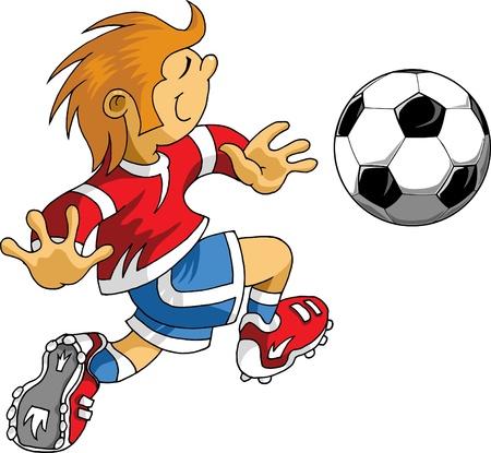 Vector Voetballer ontwerp / Voetbal Achtergrond / Vector sport ontwerp;