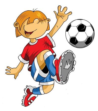 Vector Soccer player design / Football Background / Vector sport design;  Stock Vector - 10445760
