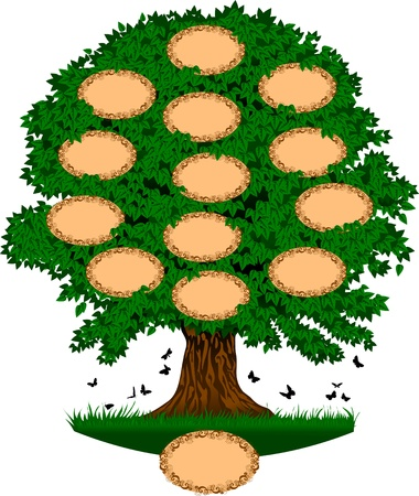 tree; which can be used as a family tree. The number of  Vector