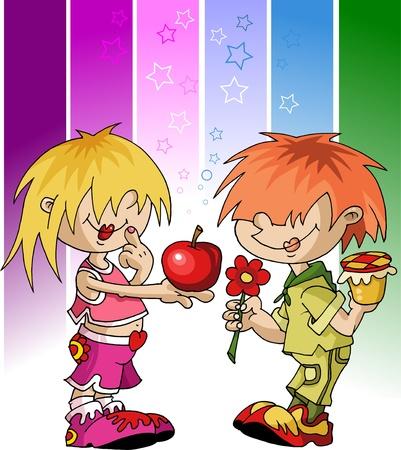 kids celebrate - the Jewish New Year; Stock Vector - 10588153