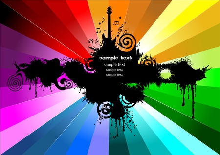 musical background with place for your text (color) Vector
