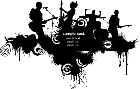 bass drum: Abstract music background for music event design. Illustration