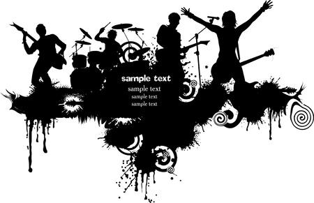 music banner: Abstracte achtergrond muziek voor muziek event design. Stock Illustratie