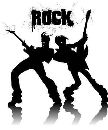guitariste rock: Musique de fond pour la conception R�sum� �v�nement musical. illustration vectorielle; Illustration