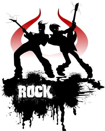 guitariste: Musique de fond pour la conception R�sum� �v�nement musical. illustration vectorielle; Illustration