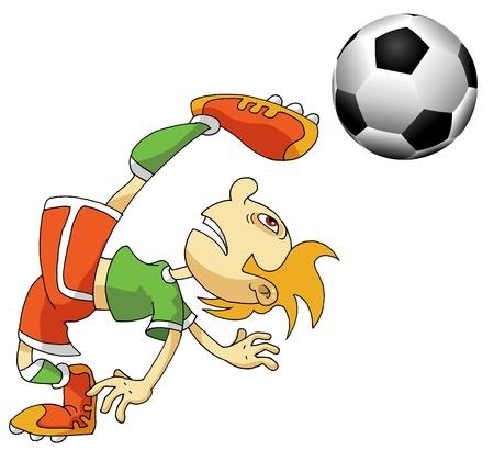 Vector Soccer player design / Football Background / Vector sport design; Stock Vector - 11830846