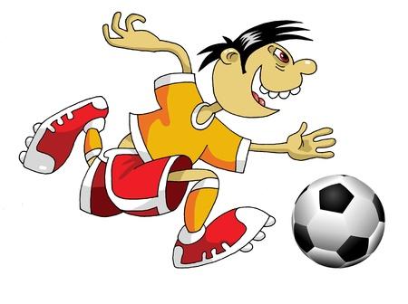 sport fan: Vector Soccer player design  Football Background  Vector sport design;
