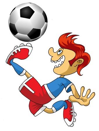 Vector Soccer player design / Football Background / Vector sport design;  Stock Vector - 11830875