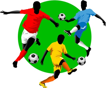 soccer design element, green background Illustration