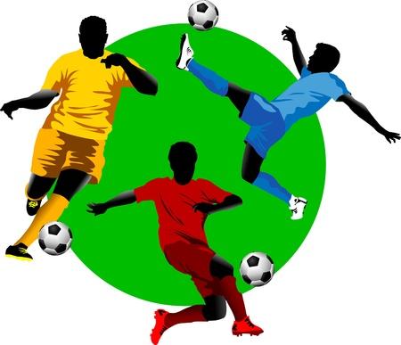 world cup: soccer design element, green background Illustration
