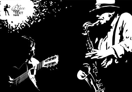サルサ: 音楽とダンスのタンゴのスタイルの図; への航空券  イラスト・ベクター素材