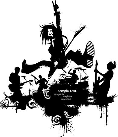 abstract music: Abstracte achtergrond muziek voor de muziek evenement, ontwerpen, vector illustratie;