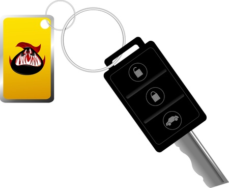 Car key on the remote control  Alarm  The vector-illustration; Stock Vector - 13230102